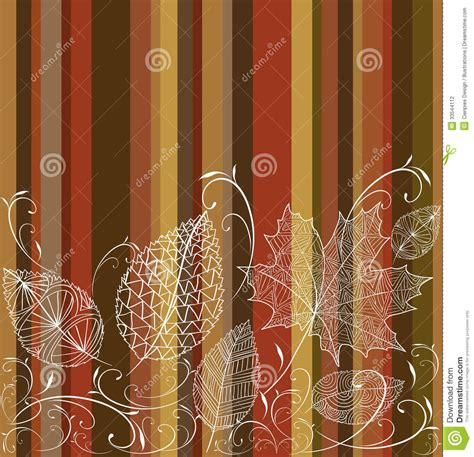 vintage autumn leaves seamless pattern background stock