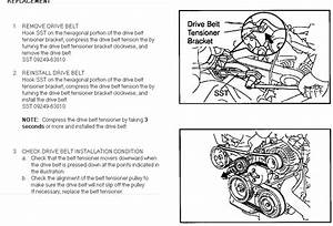 Steps For 2002 Toyota Rav4 Serpentine Belt Removal And