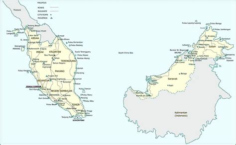 Printable Maps Of Malaysia For Download