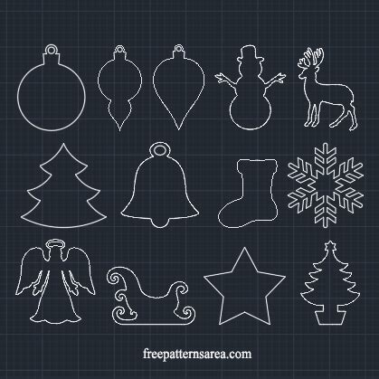winter  christmas ornament vector freepatternsarea