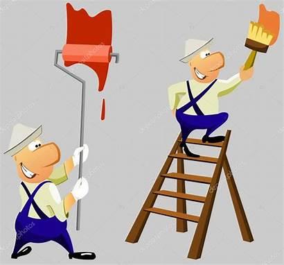 Wall Painting Paints Repair Clipart Illustration Cartoon