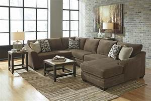 Contemporary 3 piece sectional with right chaise by for Sectional sofas gardiners