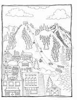 Coloring Ski Pages sketch template