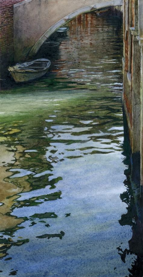 stan miller paints gorgeous scene  calm water