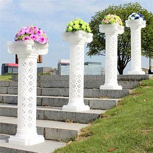 Wedding Plastic Roman Column Hold Flowers Plates Reception