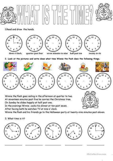 clock worksheet  esl printable worksheets