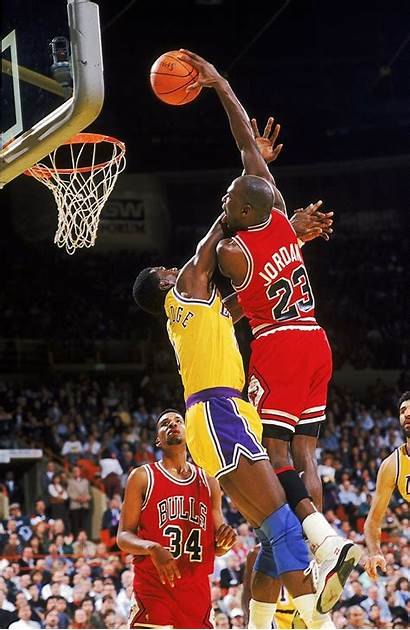 Nba Basketball Dunk Jordan Michael Dunking Basket