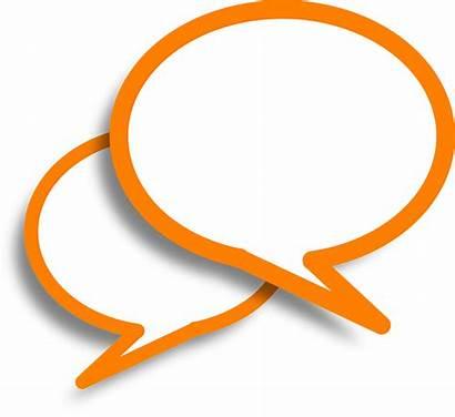 Speech Bubbles Pixabay Orange Graphic Vector