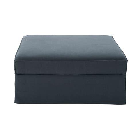 canapé et pouf pouf de canapé en coton et gris enzo maisons du monde