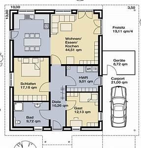 Grundrisse Für Bungalows 4 Zimmer : grundriss bungalow 3 zimmer mit garage ~ Sanjose-hotels-ca.com Haus und Dekorationen