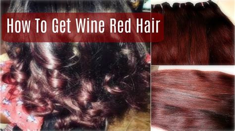 How To Dye Hair Wine Red (beginner Friendly) Ft. Queen