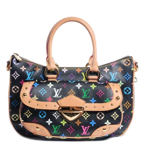 louis vuitton monogram multicolor black rita gold chain bag purse lustlabels