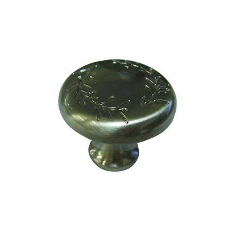 brushed nickel cabinet knobs richelieu hardware 1 1 4 in brushed nickel cabinet knob