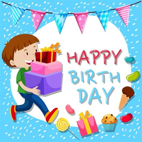 birthday card boy template jellybeans vectors photos and psd files free