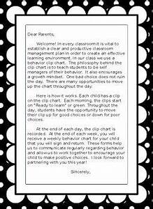 Clip Chart Behavior Management System This Is A Great Letter To Give Your Parents At The