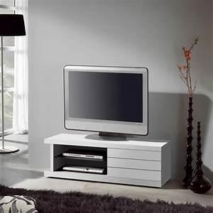 Meuble Tv Banc : meuble tv laqu blanc placage ch ne ~ Teatrodelosmanantiales.com Idées de Décoration