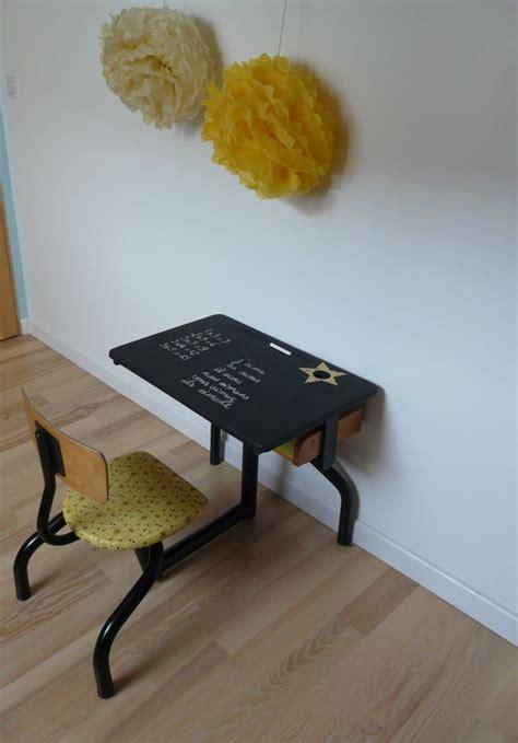 bureau ecolier vintage bureau écolier jaune et noir restyle cosy design