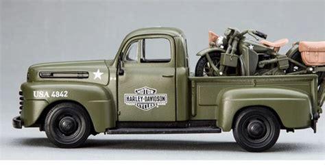 ford f1 1948 harley davidson wla 124 maisto 1 24 scale army green maisto diecast 1948 ford f1