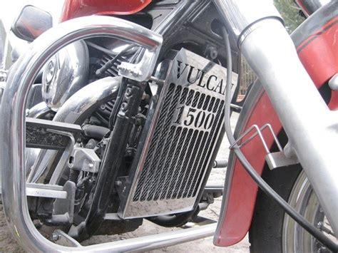 radiator cover kawasaki vn  vulcan classic brands  metalroute accessories chrome