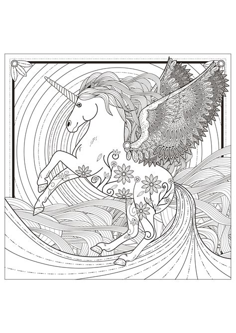 unicorn unicorns adult coloring pages