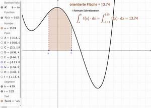 Achsensymmetrie Berechnen : bestimmtes integral orientierte fl che geogebra ~ Themetempest.com Abrechnung