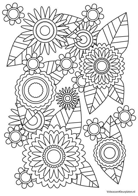 Kleurplaat Bloemen by Volwassen Kleurplaat Bloem 2 Volwassen Kleurplaten