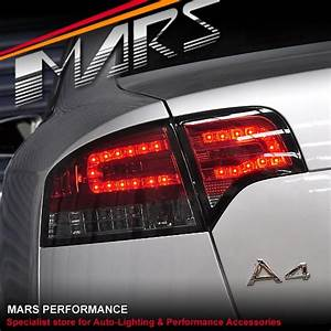 Smoked Red Led Tail Lights With Led Indicators For Audi A4 S4 Rs4 S