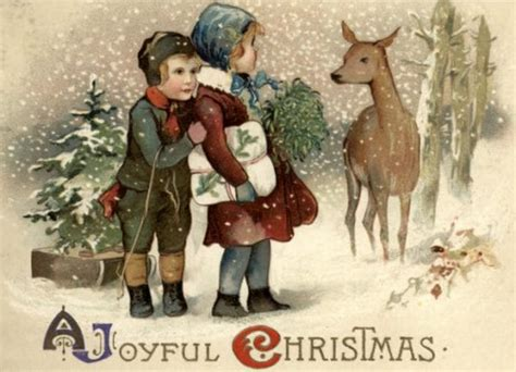 remodelaholic   vintage christmas card images day