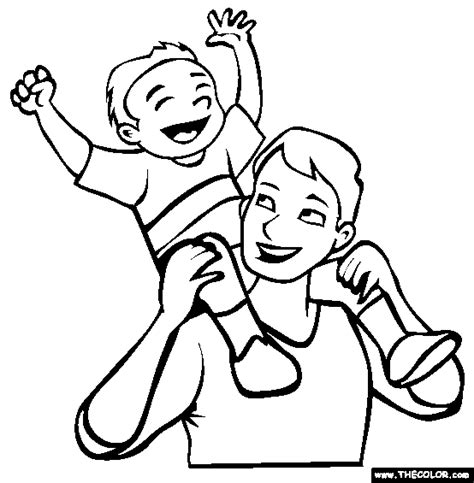 fathers day  coloring pages page