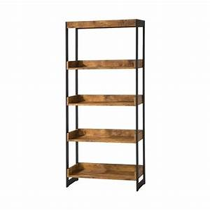 Coaster Estrella 4 Shelf Bookcase in Antique Nutmeg - 800657
