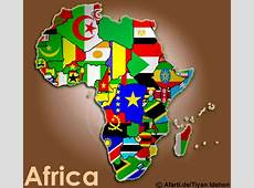 Afrika der Kontinent Afarti; all african