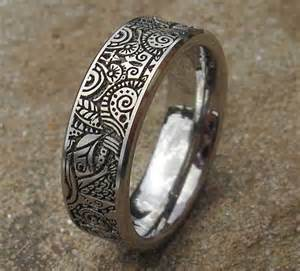 mens silver wedding bands tribal 2012 mayan aztec titanium ring in the uk