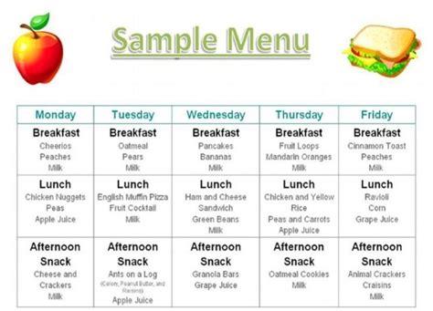 8 best images of printable menus daycares sample daycare 996 | sample daycare food menu 14801