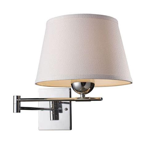 titan lighting lanza 1 light polished chrome swing arm wall mount tn 6371 the home depot
