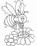 Coloring Bee Honey Bees Sucking Colouring Ocoloring Printable Select sketch template