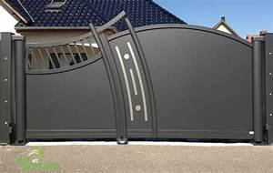 Portail Alu 4m : portail alu 4m battant portail en fer plein sfrcegetel ~ Voncanada.com Idées de Décoration