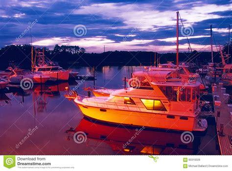 Boat Marinas Jacksonville Florida by Boat Marina In Jacksonville Florida At Sunset Stock