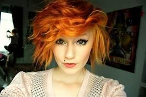 short orange hair | hair, makeup, and pretty nails | Pinterest