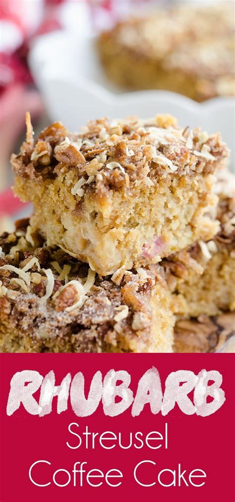 I could bake with rhubarb for days…so when ever i am able to get my hands on any, i make sure that i bake as much as i can. Rhubarb Streusel Coffee Cake is a moist buttermilk cake ...