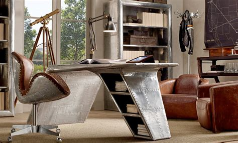 Restoration Hardware Aviator Desk Knock by Aircraft Wing Desk Images