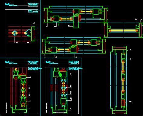casement window details aluminium dwg detail  autocad designs cad