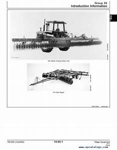 John Deere Tillage Equipment Tm1495 Technical Manual Pdf