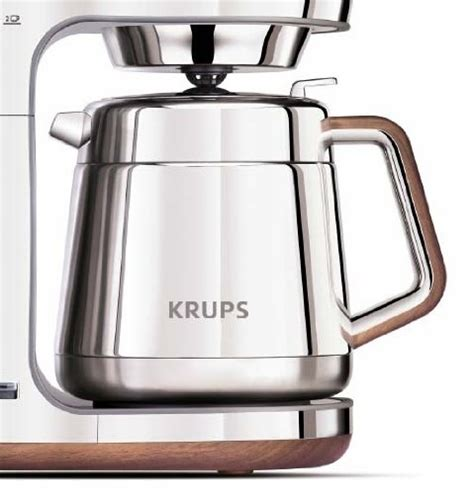 Coffee Consumers   KRUPS KT600 Silver Art Collection Thermal Carafe Coffee Maker with Chrome