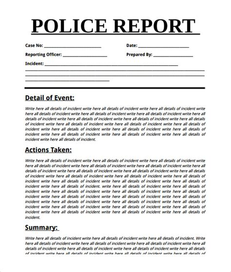 summary report templates samples examples format
