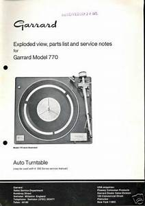 Garrard Exploded Diagram  U0026 Parts List - Model 770