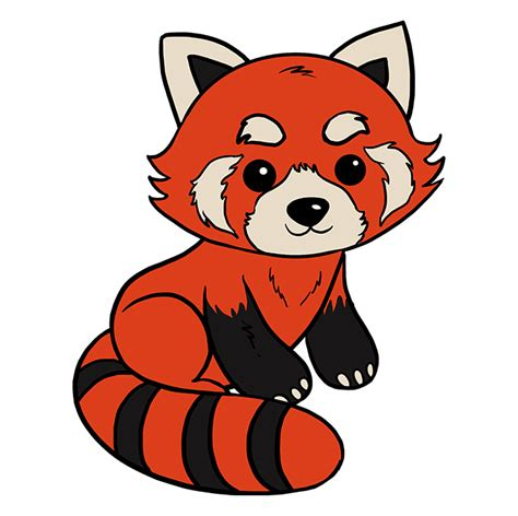 draw  red panda  easy drawing tutorial