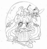 Coloring Fairy Yampuff Cupcake Deviantart Chibi Anime Printable Frosting Manga Books Candy Adult Coloriage Drawing Kawaii Draw Dessin Kleurplaten Princesse sketch template