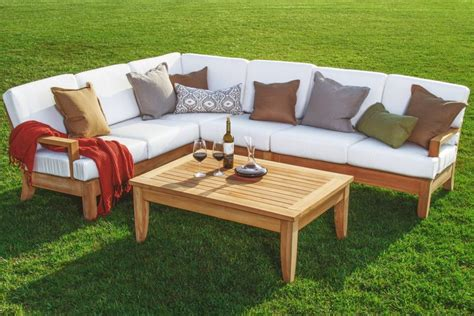 teak outdoor sofa manhattan  grade teak outdoor sofa