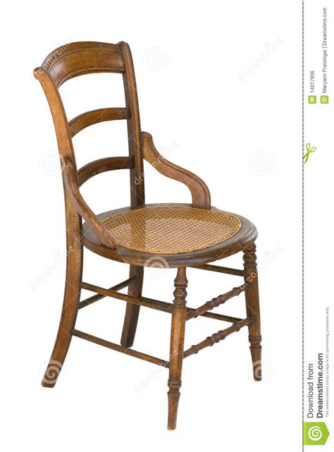 Cane Seat Antique Wood Vintage Chair  Isolated Royalty