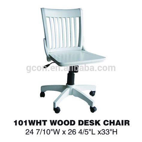 classical armless high light wood swivel desk chair buy